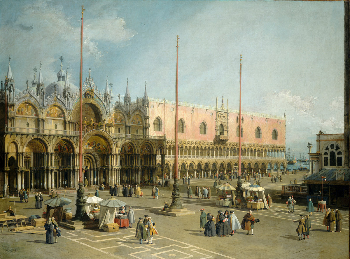 Canaletto, The Square of Saint Mark's, Venice, Italian, 1697 - 1768, 1742/1744, oil on canvas, Gift of Mrs. Barbara Hutton