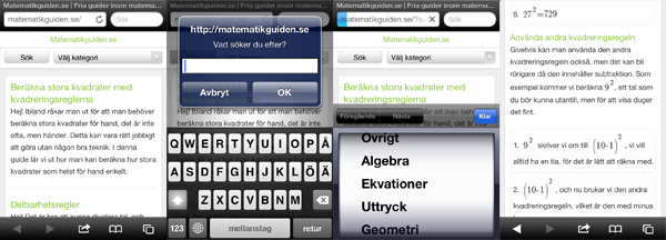 Matematikguiden.se i mobiltelefonen!